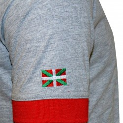 Polo officiel gris/rouge junior - Biarritz Olympique Pays-Basque