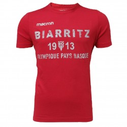 T-shirt Travel Cotton Rouge Junior Biarritz Olympique