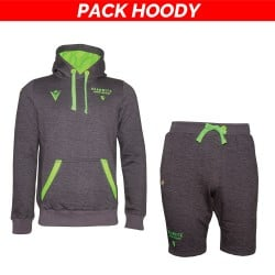 Pack Hoody : Hoody/sweat gris + bermuda gris 5XL