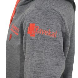 Sweat Capuche Adulte 2021 GRIS_ROUGE