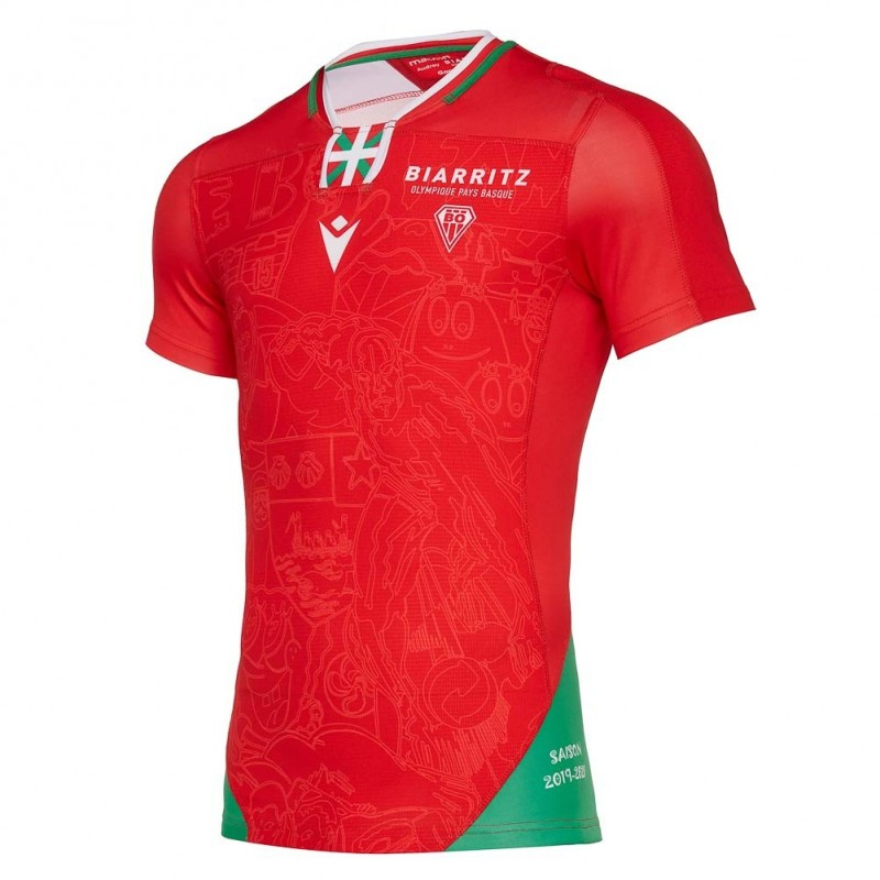 Maillot replica officiel domicile junior - Biarritz Olympique Pays Basque